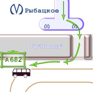 Схема проезда от м. Рыбацкое new