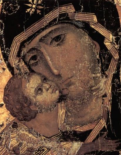 Владимирская Икона Божией Матари (Фрагмент)