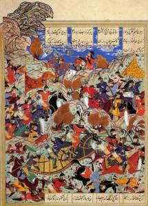 Тамерлан в войне с Египетским султаном, миниатюра XVI в.