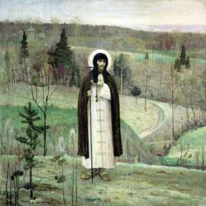 Святой Сергий Радонежский. (худ. М. Нестеров, 1891-1899)