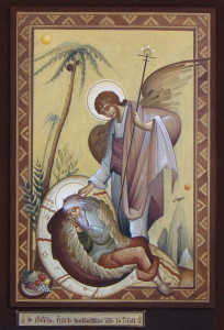 Явление Ангела пророку Илие. Греческая Икона